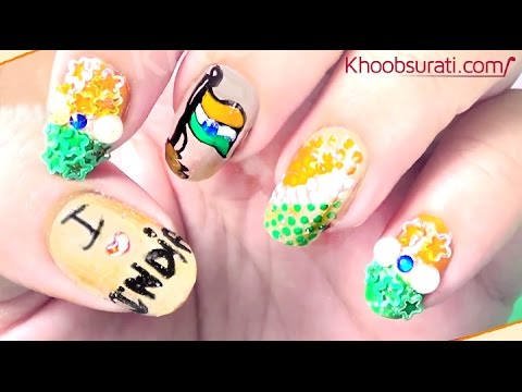 Independence Day Nail Art Design Khoobsurati