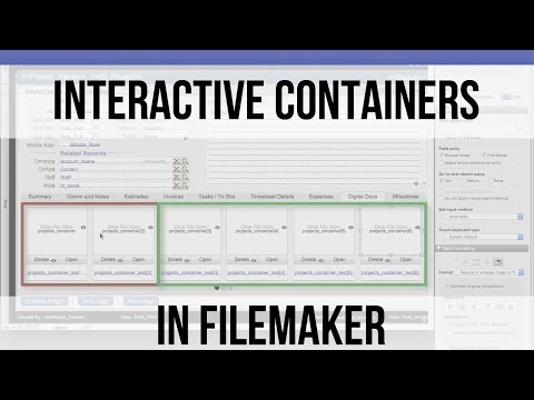 Interactive Containers in FileMaker | FileMaker 14 Training Videos