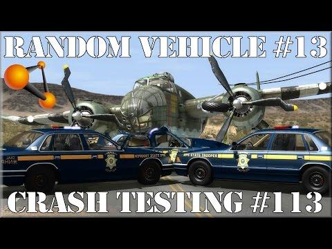 BeamNG.Drive Random Vehicle #13 Crash Testing #113 - Insanegaz