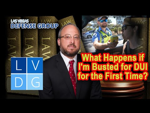 What happens if I'm busted for DUI for the first time in Nevada?