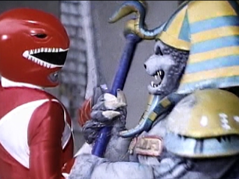 Red Ranger vs King Sphinx and Goldar (Mighty Morphin Power Rangers)