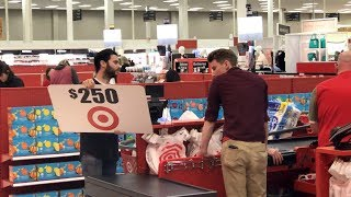 Ellen's Writer Attempts to Use Giant Gift Cards at Target