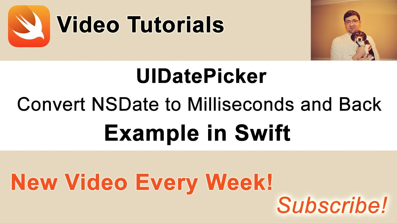 UIDatePicker  Convert NSDate to milliseconds and back  Example in Swift