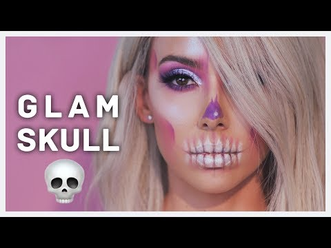EASY SKULL HALLOWEEN MAKEUP TUTORIAL
