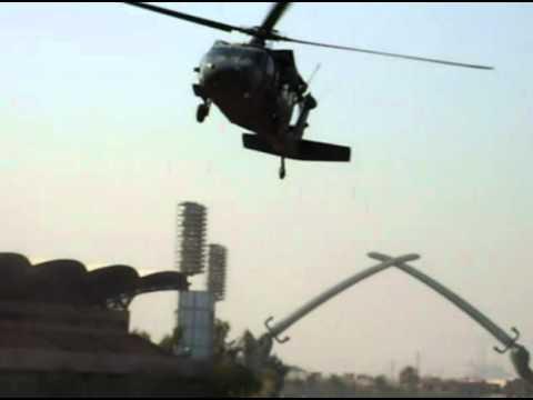 Black Hawks Landing Crossed Sabers Baghdad Iraq