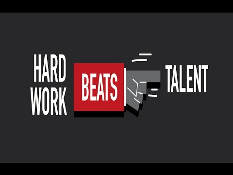 A motivational video teaching kids Hard Work Over Talent