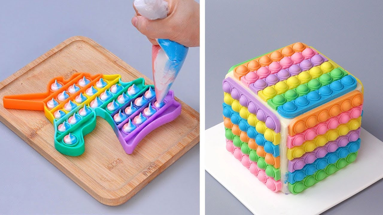 Oddly Satisfying and Fantastic Cake Decorating Ideas | Beautiful Colorful Cake Tutorials