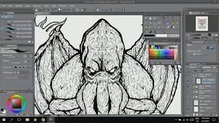 FangZ draws: Cthulhu t-shirt design