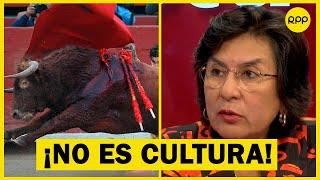 """Ledesma sobre las corridas de toros: """"Me resisto a asumir que maltratar a un animal sea cultura"""""""