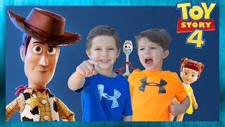Toy Story 4 GIANT SMASH SURPRISE TOYS WALL w/ Toy Story Giant Board Game - Chase and Cole Adventures