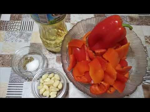 Острая закуска из болгарского перца. Жаренный болгарский перец.Рецепт вкусной закуски.