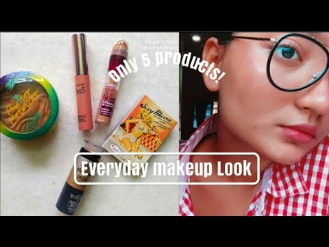 simple everyday makeup look without foundation/ tutorial