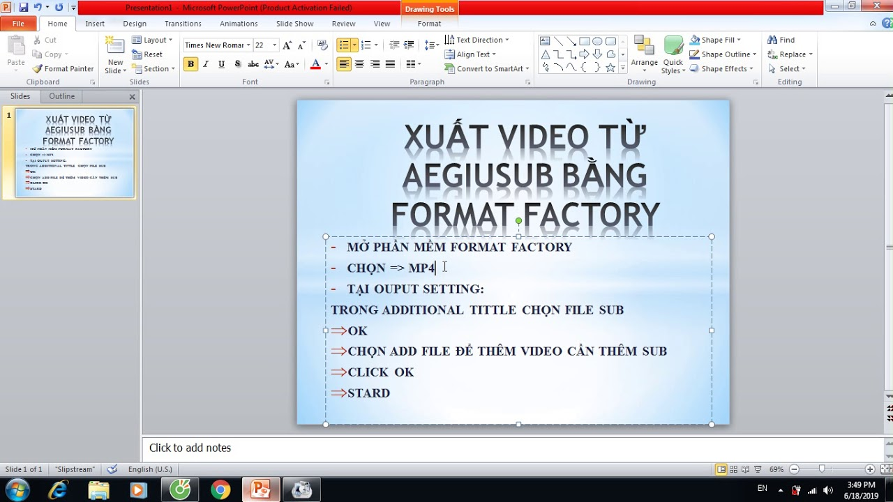 CÁCH XUẤT VIDEO TỪ AEGISUB BẰNG FORMAT FACTORY - CÓ LINK CÀI ĐẶT