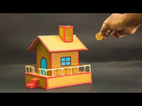 How To Make Piggy Bank House From Cardboard