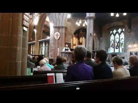 St. Peter and St. Paul's church sermon, Mansfield, Nottinghamshire, UK