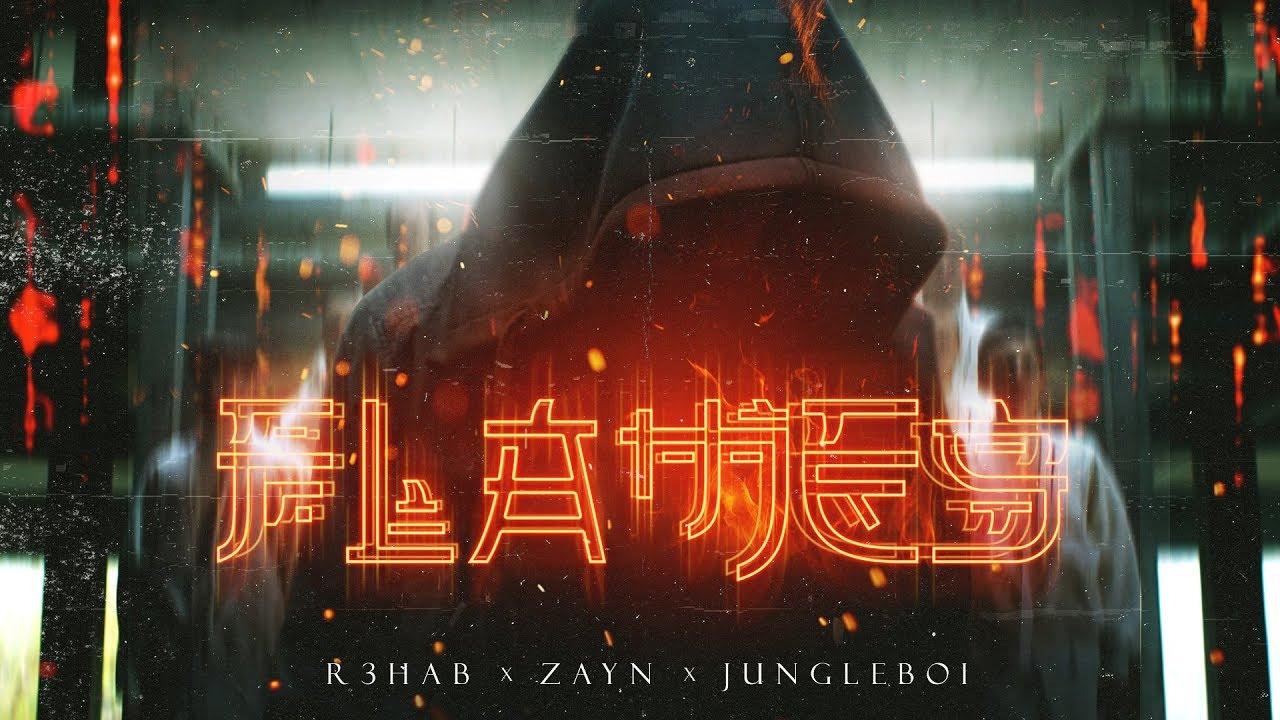 R3hab Zayn Jungleboi Flames Lyric Video Youtube
