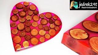HEART  from Resin. DIY. Valentine's Day / ART RESIN