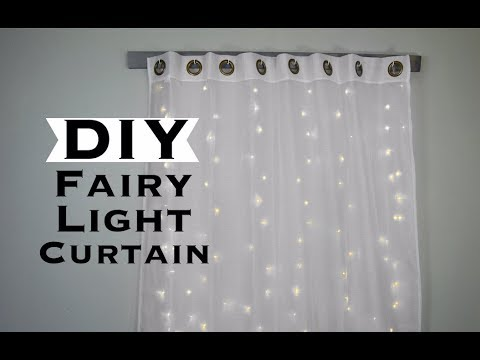 DIY FAIRY LIGHT CURTAIN