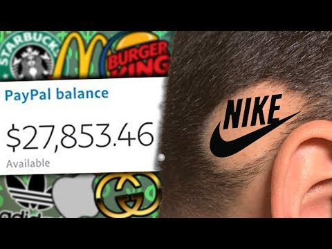 Selling my BALD SPOT To Brands! *IT WORKED* (IMPOSSIBLE CHALLENGE)