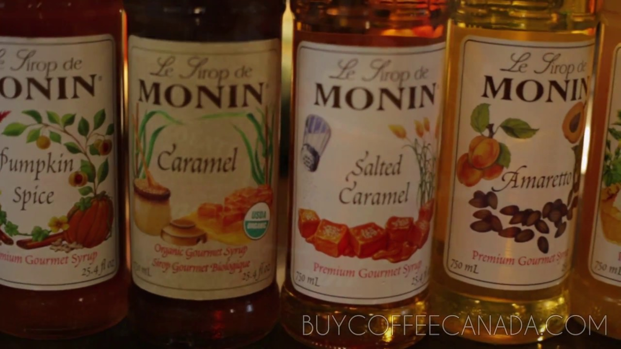 Monin Organic Caramel Syrup Latte from Buy Coffee Canada - YouTube