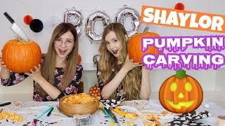 First Annual Shaylor Pumpkin Carving