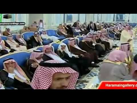 Saudi King Abdullah bin Abdul Aziz at Yamama Palace Riyadh First Appearance after returning to Kingdom having back surgery
