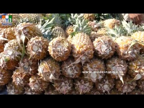 Pineapple Cutting Kamoti  Secter 06 | BOMBAY STREET FOOD 2016