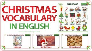 Christmas Vocabulary in English - ESL Words associated with Christmas