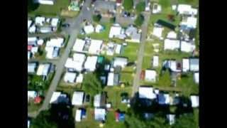Luftaufnahme 2011 Campen am Fluss aus Oberweser - Oedelsheim