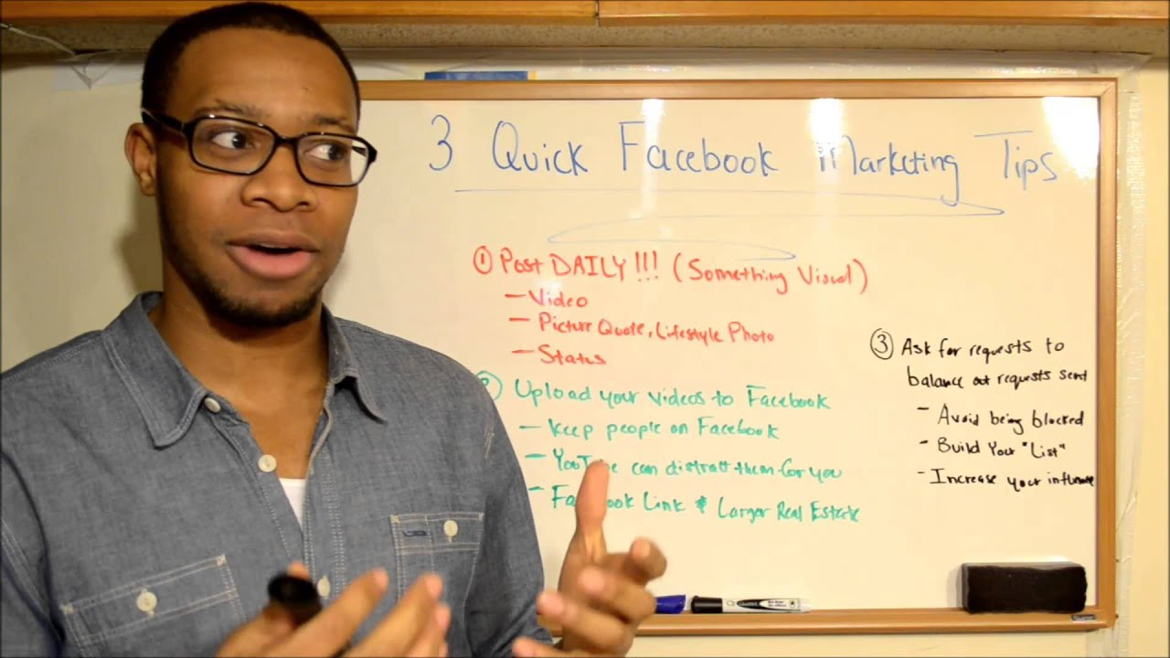 Facebook Marketing Tips 3 Quick Tips To Apply To You