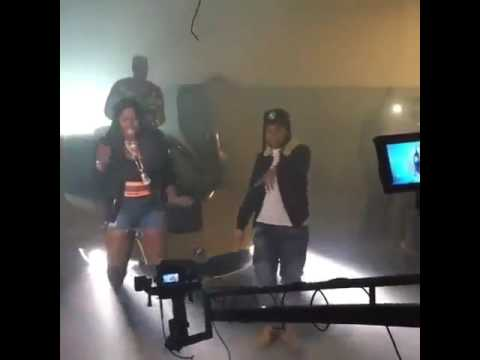 Remy Ma And Young MA on Set Of OOOUUU Pt. 1