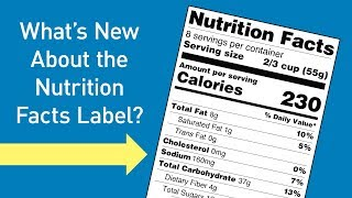 What's New About the Nutrition Facts Label?