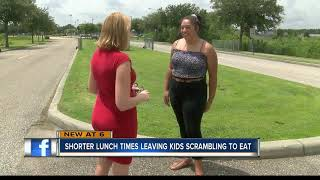 Pasco County school lunch times cut in half, parents worry students don't have enough time to eat