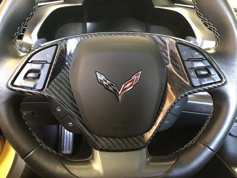 New Carbon Fiber Corvette Steering Wheel Covers