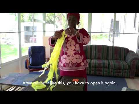 How to Recycle Plastic Bags into Purses: Isatou Ceesay - Njau, Gambia