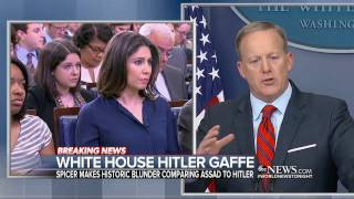 Sean Spicer in the hot seat after downplaying the horror of the Holocaust