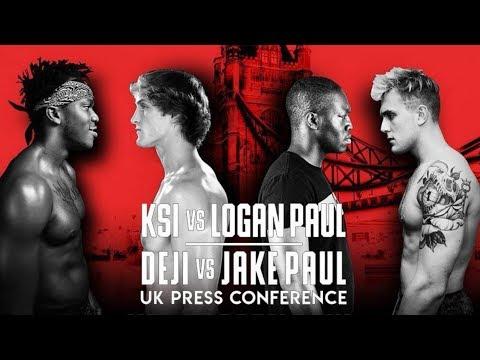KSI VS. LOGAN PAUL - DEJI VS. JAKE PAUL UK PRESS CONFERENCE LIVE STREAM REACTION
