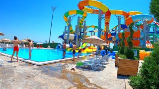Water slides at marina aquapark waterland in istanbul tuzlatuzla waterland, which has become one of the favorite entertainment places for ist...
