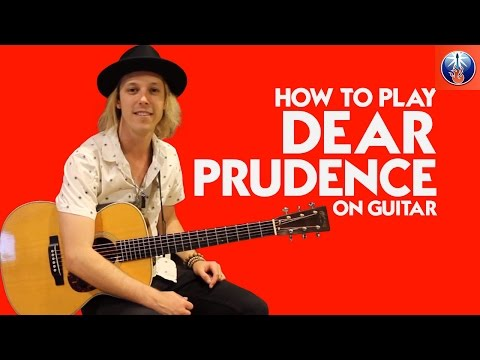 How to Play Dear Prudence On Guitar - Simple Dear Prudence Acoustic Guitar Lesson