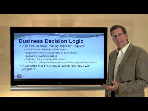 24-- A General Framework For Making Rational Business Decisions