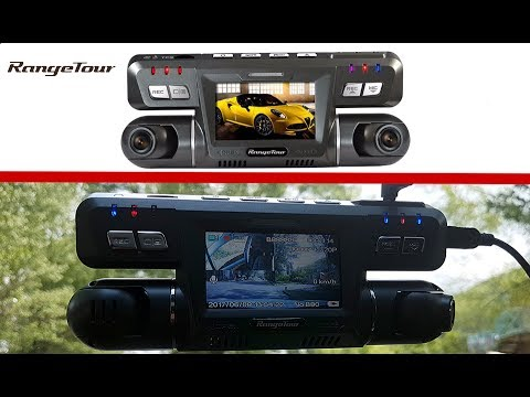 Dashboard Camera RangeTour B80 WiFi Novatek 96655 1080P With Two Cameras And GPS. Detailed Review
