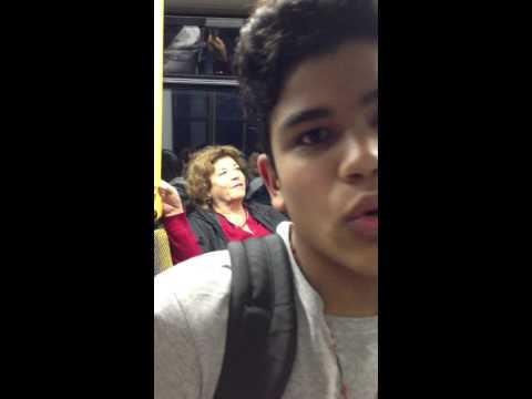 sebastian en dresden en el metro