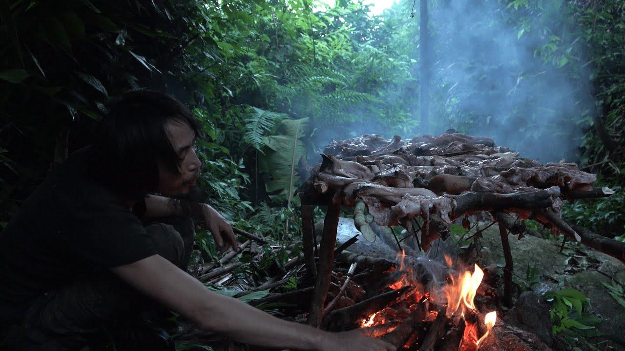 Prepare the Bacon for the Winter, Wilderness Alone, Episode 74