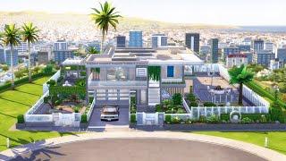 Luxury Modern Mansion   NoCC    Sims 4 Speed Build