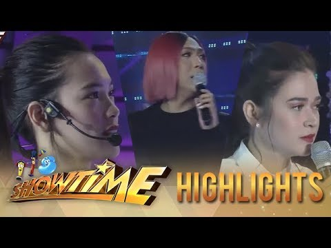 """It's Showtime Miss Q and A: Vice mediates between """"Ate Girl"""" and Bela"""