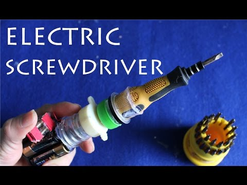 How To Make A Mini Electric Screwdriver | Very Simple Tool
