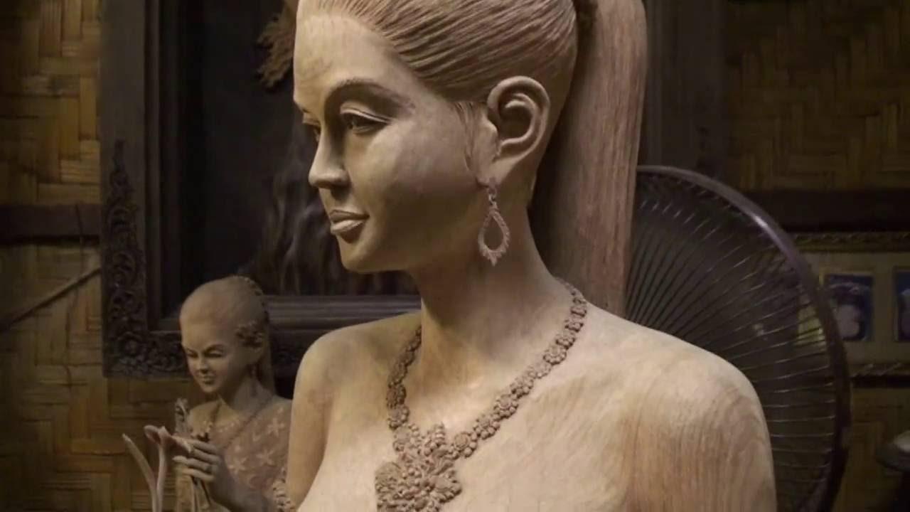 Wood Carving Exhibition Sculpture Art Lanna Style Thailand -4283