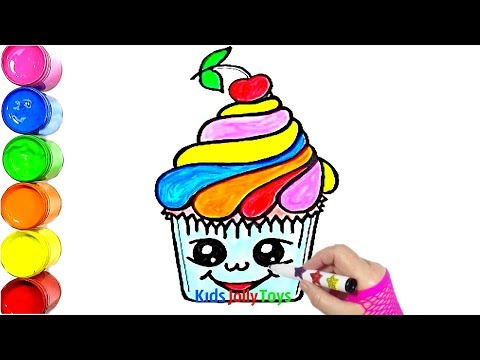 Cute Cherry Cupcake Just for Fun Drawing and Painting Kids Jolly Toys