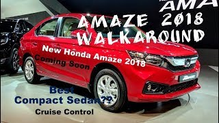 Amaze Facelift 2018 | New Honda Amaze 2018 | Full Specifications Overview