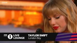 "Taylor Swift performed ""London Boy"" first time on BBC Radio1"